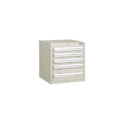 TRUSCO LVR型キャビネット 392X412XH420 引出5段 NG(1台) LVR423 5021031