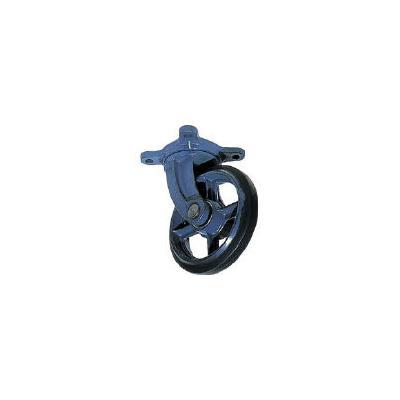 京町 鋳物製自在金具付ゴム車輪250MM(1個) AJ250 1074971