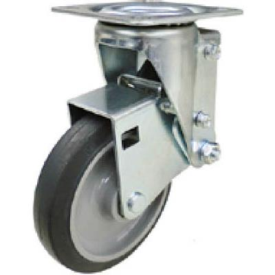 ユーエイ クッションキャスター 125径 自在車 ゴム車輪(1個) SHSKYS125NRB30 4703961