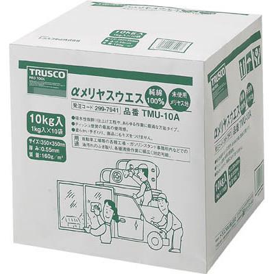 TRUSCO αメリヤスウエス 汎用タイプ 10kg(1箱) TMU10A 2997941