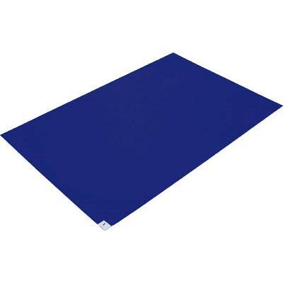 TRUSCO 粘着クリーンマット 600X900MM ブルー 10シート入(1箱) CM609010B 4198662