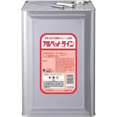 サラヤ 清浄・洗浄・除菌用エタノール製剤 アルペットライン 17L(1個) 41315 4133901