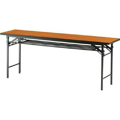 TRUSCO 折りたたみ会議テーブル 1800X600XH700 チーク(1台) TCT1860 2769239