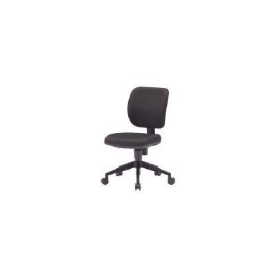 TRUSCO オフィスチェア 布張り ブラック(1脚) FZ3BK 3015262