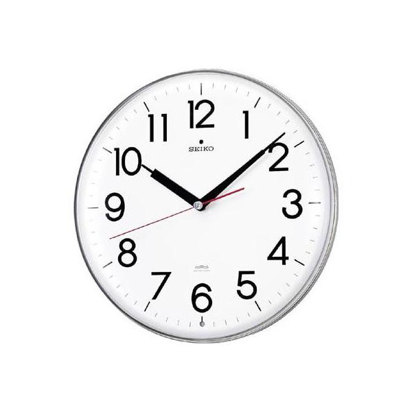 SEIKO アクリルカバー電波掛時計 直径294×47 白(1個) KX301H 3276911
