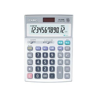 カシオ 検算電卓(デスクタイプ)(1台) DS20WK 3284956