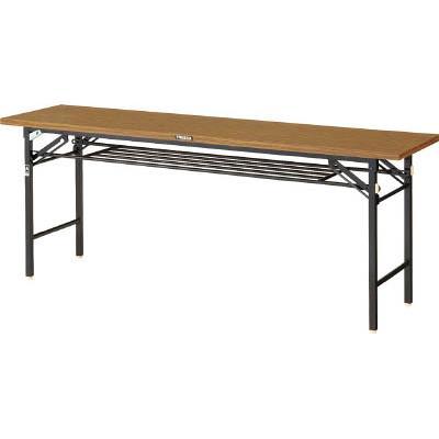 TRUSCO 折りたたみ会議テーブル 1200X450 安全ストッパー付(1台) TSM1245 3841502