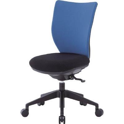 アイリスチトセ 回転椅子3DA ブルー 肘なし シンクロロッキング(1脚) 3DAS45M0BL 4743920