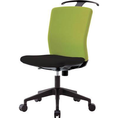 アイリスチトセ ハンガー付回転椅子(フリーロッキング) グリーン/ブラック(1台) HGXCKR46M0FLGN 7594259