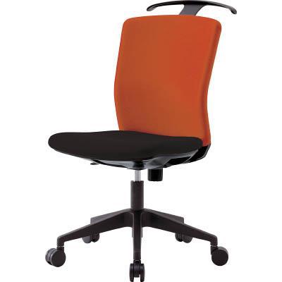 アイリスチトセ ハンガー付回転椅子(フリーロッキング) オレンジ/ブラック(1台) HGXCKR46M0FOG 7594275