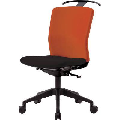 アイリスチトセ ハンガー付回転椅子(シンクロロッキング) オレンジ/ブラック(1台) HGXCKRS46M0FOG 7594321