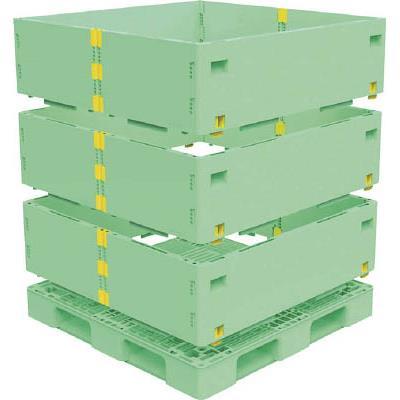 TRUSCO マルチステージコンテナ 3段 1100X1100 緑(1S) TMSCS1111GN 7698194