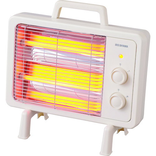 IRIS:電気ストーブ レトロ調 IEHD800 工場 倉庫 作業 防寒 暖房