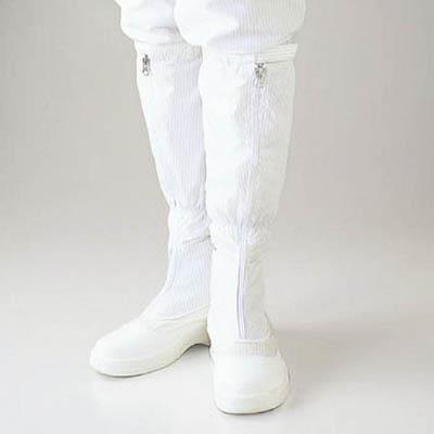 ゴールドウイン 静電安全靴ファスナー付ロングブーツ ホワイト 24.5cm(1足) PA9850W24.5 4726961