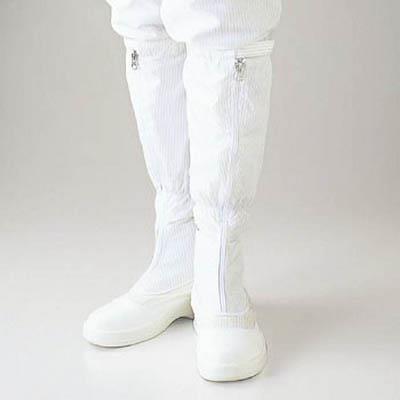 ゴールドウイン 静電安全靴ファスナー付ロングブーツ ホワイト 25.0cm(1足) PA9850W25.0 4726979