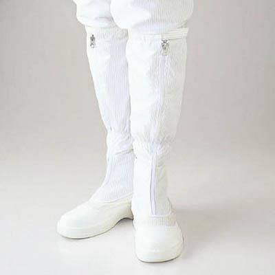 ゴールドウイン 静電安全靴ファスナー付ロングブーツ ホワイト 26.5cm(1足) PA9850W26.5 4727002