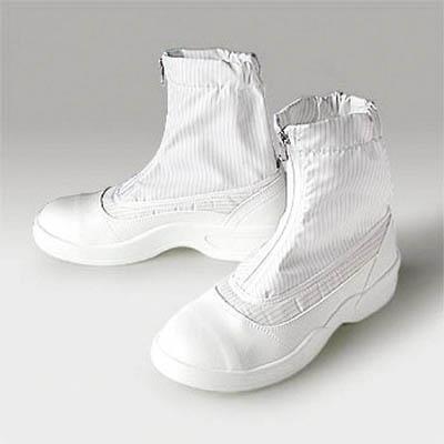 先芯入り静電安全靴 4549397056512 ゴールドウイン 静電安全靴セミロングブーツ ホワイト 24.0cm(1足) PA9875W24.0 7591608