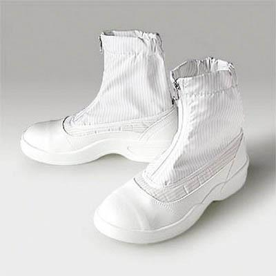 先芯入り静電安全靴 4549397056536 ゴールドウイン 静電安全靴セミロングブーツ ホワイト 25.0cm(1足) PA9875W25.0 7591624
