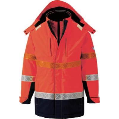 ジーベック 801 高視認防水防寒コート LL オレンジ 80182LL 7996381
