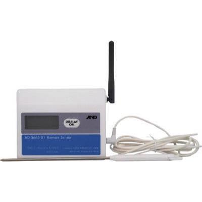 温湿度計測システム(ワイヤレスタイプ) 4981046449526 A&D ワイヤレス温湿度計(子機) AD5665-01 AD566501 8185280