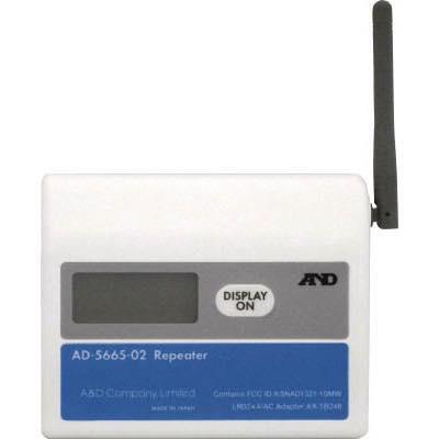 温湿度計測システム(ワイヤレスタイプ) 4981046449533 A&D ワイヤレス温湿度計(中継機) AD5665-02 AD566502 8185281