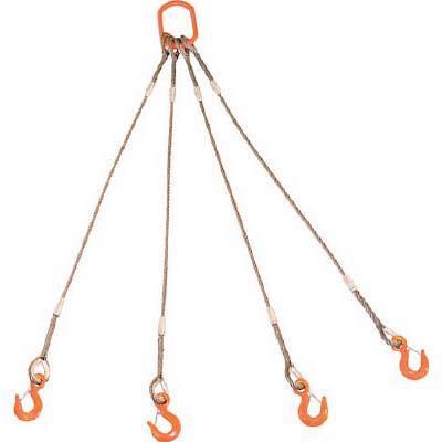 TRUSCO 4本吊りWスリング フック付き 12mmX1.5m GRE4P12S1.5 8191732