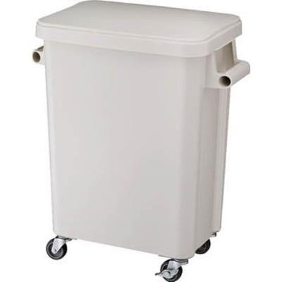 リス 厨房用キャスターペール45L 排水栓付 グレー GGYK001 8194055