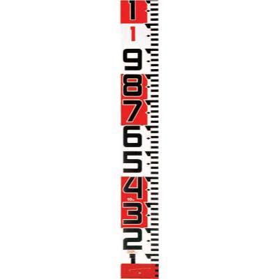 タジマ シムロンロッド-150長さ 10m/裏面仕様 1mアカシロ/紙函 SYR10TK 8134655