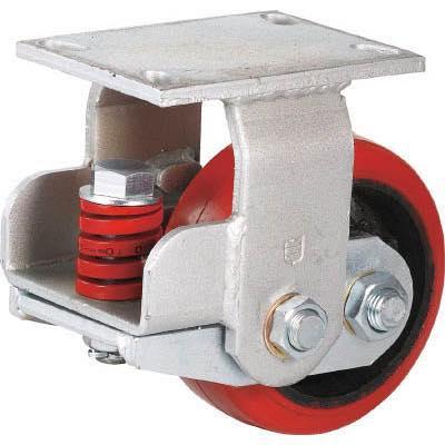 SAMSONG スプリング機能付きキャスター 固定150mm 耐荷重670kg TP7160RPCIBB 7959729