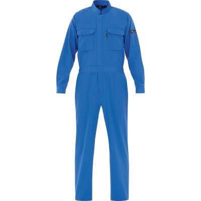 ミドリ安全 ベルデクセル T/C帯電防止ツナギ服 ブルー L VE413L 7949855