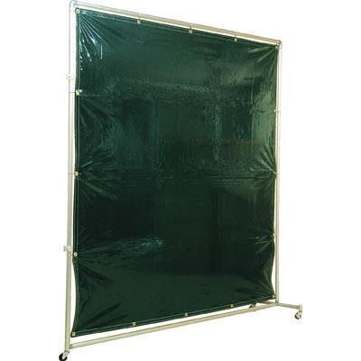 吉野 遮光フェンスアルミパイプ 1×2 接続キャスター ダークグリーン(1台) YS12JCDG 3528570