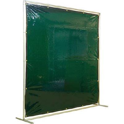 吉野 遮光フェンスアルミパイプ 2×2 単体固定 グリーン(1台) YS22SFG 3528936