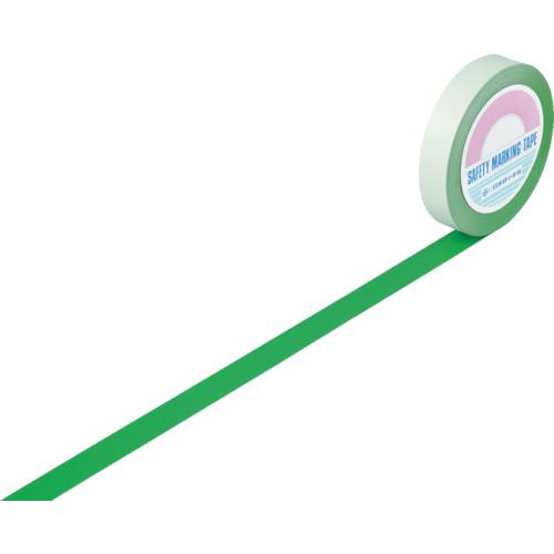 緑十字 ガードテープ(ラインテープ) 緑 25mm幅×100m 屋内用 148012 8353719