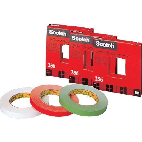 4901690001581 100円OFFクーポン配布中 3M カラーラベルテープ256 レッド 8357737 25619RED 高価値 19mm×54.8m いよいよ人気ブランド