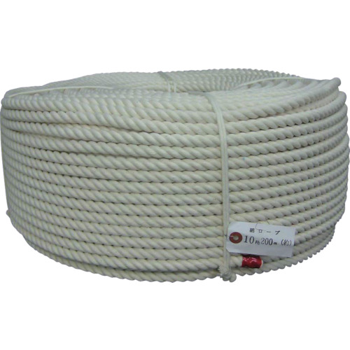 ユタカ ロープ 綿ロープ巻物 10φ×200m C10200 8291204