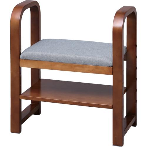 IRIS 玄関椅子 CG-55 ブラウン GC55BR 8364736