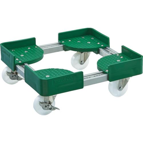 TRUSCO 伸縮式コンテナ台車 内寸500-600X600-700 AC S付 FCD5060ALGS 8549234