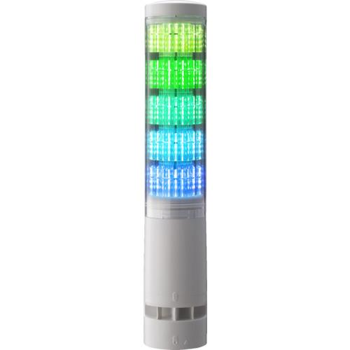 パトライト LA6型積層情報表示灯φ60 直付け・端子台・ブザーあり LA65DTNWBRYGBC 4964705