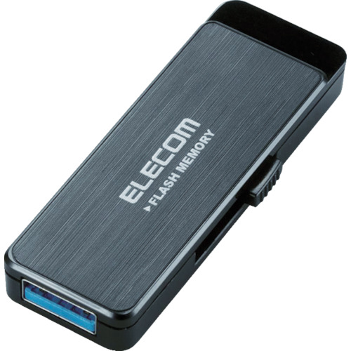 エレコム USB3.0フラッシュ 16GB AESセキュリティ機能付 ブラック MFENU3A16GBK 8200241