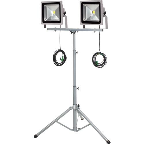 日動 LED作業灯 50W 二灯式三脚 LPRS50LW3ME 8357724