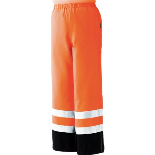 ミドリ安全 雨衣 レインベルデN 高視認仕様 下衣 蛍光オレンジ L RAINVERDENSITAORL 8357365