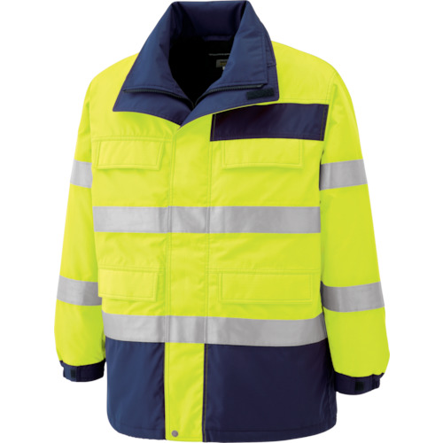 ミドリ安全 高視認性 防水帯電防止防寒コート イエロー 3L SE1124UE3L 7978626