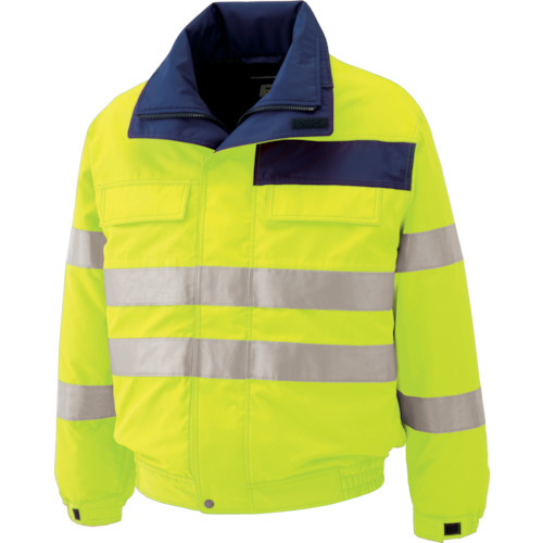 ミドリ安全 高視認性 防水帯電防止防寒ブルゾン イエロー 3L SE1134UE3L 7978863