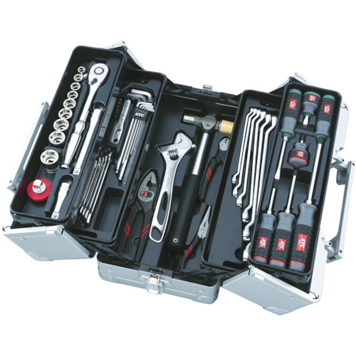 【メーカー直送】 工具セット(両開きメタルケースタイプ) SK4521W KTC 8594192:イチネンネット-DIY・工具