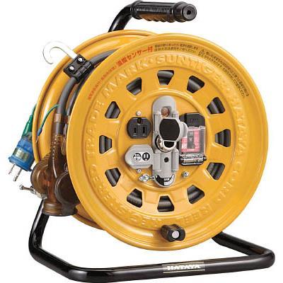 ハタヤ 逆配電型ブレーカーリール 単相100Vアース付 27+6m(1台) GBM130K 1061861