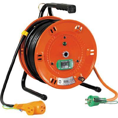 日動 電工ドラム びっくリール 100V アース漏電しゃ断器付 30m(1台) NLEB30S 1255584