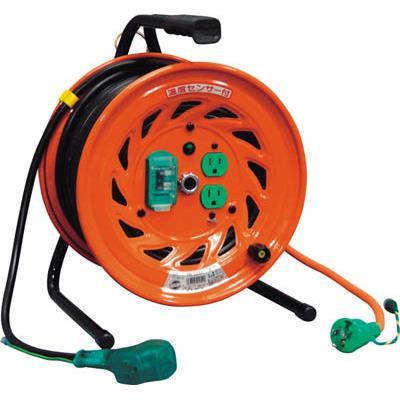 日動 電工ドラム びっくリール 100V アース漏電しゃ断器付 30m(1台) RNDEB30S 1255592