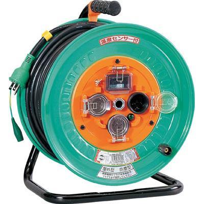 日動 電工ドラム 防雨防塵型100Vドラム アース漏電しゃ断器付 30m(1台) NPWEB33 2902061