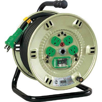 日動 100V漏電遮断器付電工ドラム(1台) NPEB24 3686469