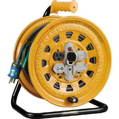 ハタヤ 温度センサー付コードリール 単相100V 20m アース・ブレーカー付(1台) BG201KXS 4189604